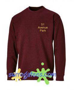 51 Avenue Park maroon Sweatshirt