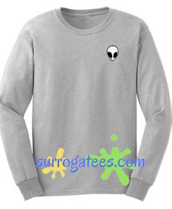 Alien Crop Sweatshirt Unisex Adult Size S to 3XL