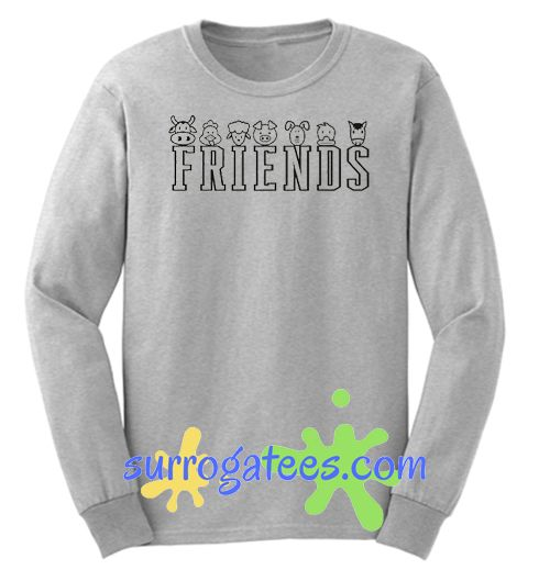 Animal Friends Sweatshirt Funny Friendship Sweater Gifts For Vegetarians Friends Not Food Sweatershirt