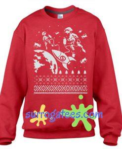 Astronauts In Space Sweater Flex Fleece Pullover Classic Sweatshirt