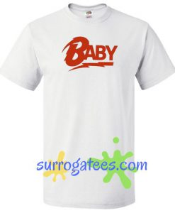 Baby Logo Bowie T shirt gift tees unisex adult cool tee shirts