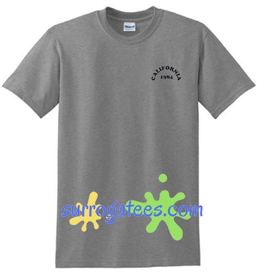 California 1984 T Shirt unisex adult cool tee shirts