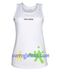 Cherry Bomb Adult Tank Top