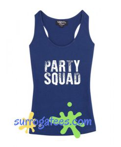 Party Squad v neck tank top