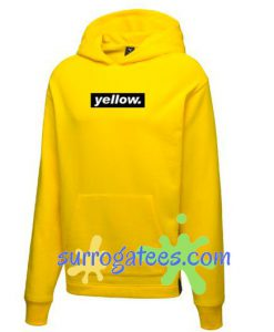 Yellow Font Hoodie sweater custom clothing