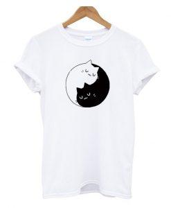 Yin Yang Cats Kittens T-SHIRT
