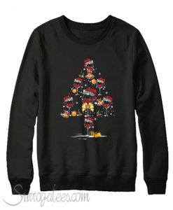 Wine glass christmas tree Sweatshirt