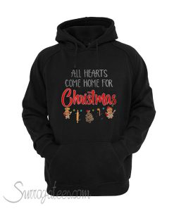 All hearts come home for Christmas ugly Hoodie