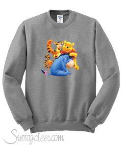 Winnie the Pooh Eeyore and Tiger Sweatshirt