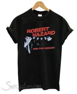 1980's ROBERT HAZZARD & The Heroes vintage concert tour rare original new-wave rock band matching t-shirt