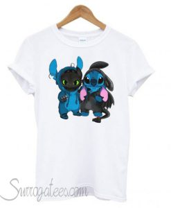 Baby Toothless and baby Stitch matching T shirt