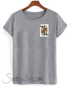 queen spade matching shirt grey