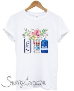 Flower Michelob Ultra Coors Light Bud Light Beer T-Shirt