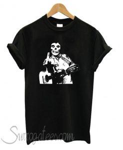 Johnny Cash The Misfits Middle Finger Black Skull matching T shirt