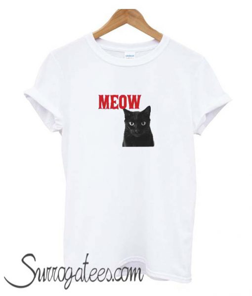 The cat says meow matching T Shirt
