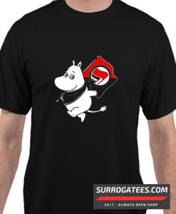 Antifa Moomin Anti-Fascist matching T-Shirt