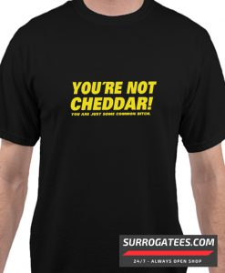 You're Not Cheddar Matching T Shirt