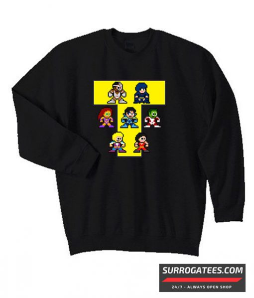 8-Bit NEW TEEN TITANS Matching Sweatshirt