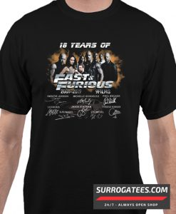 18 Years of Fast and Furious 2001 2019 Matching T Shirt