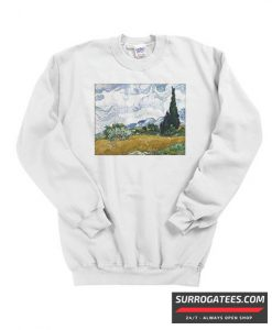 Vincent van Gogh Wheat Field with Cypresses Matching Sweatshirt