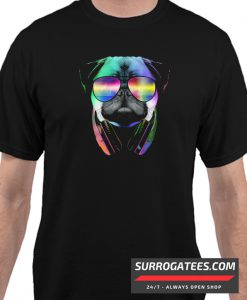 Music Lover Pug Matching T Shirt