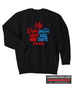 100 days of school Design Matching Sweatshirt