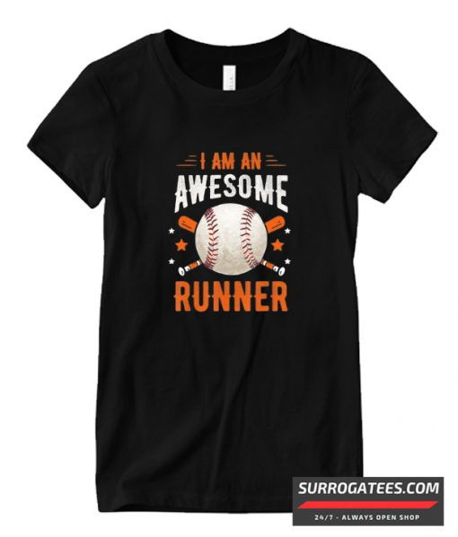 I Am An Awesome Runner Baseball Matching T Shirt