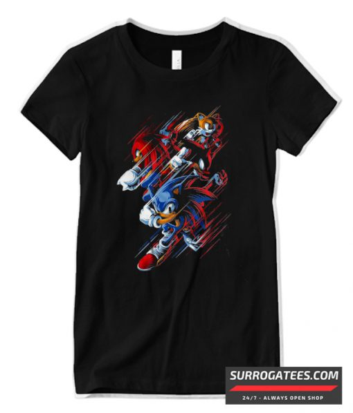 Sonic The Hedgehog Design Matching T Shirt