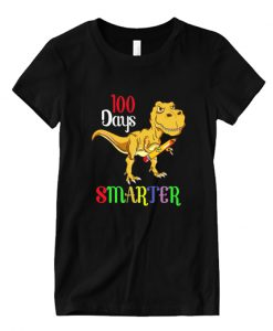 100 Days Smarter Happy 100th Day Of School Student Teacher LT T Shirt