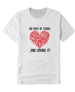 100 Days of School Girls Heart Loving LT T Shirt
