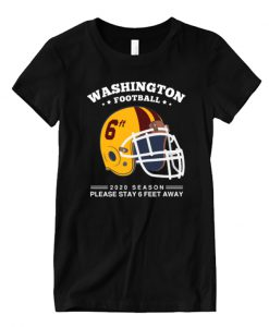 2020 NFL Washington Football Team Spirit Stay 6ft Away Matching T Shirt