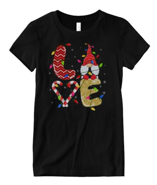 Love Gnomes Funny Christmas Matching Pajama Xmas Matching Graphic T Shirt