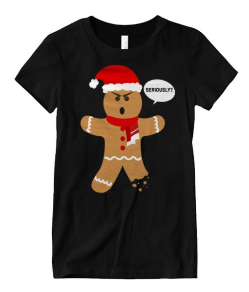 Ugly Christmas T-Shirt – Gingerbread Man Seriously Matching Graphic T Shirt