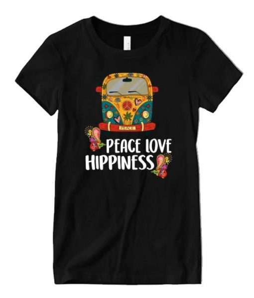 Peace Love Hippiness Graphic T Shirt