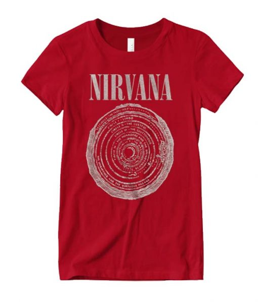 New Nirvana Band Photo Classic Grunge Red Vintage T-Shirt